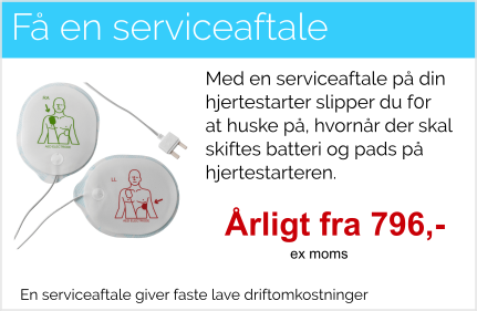 Serviceaftale hjertestarter